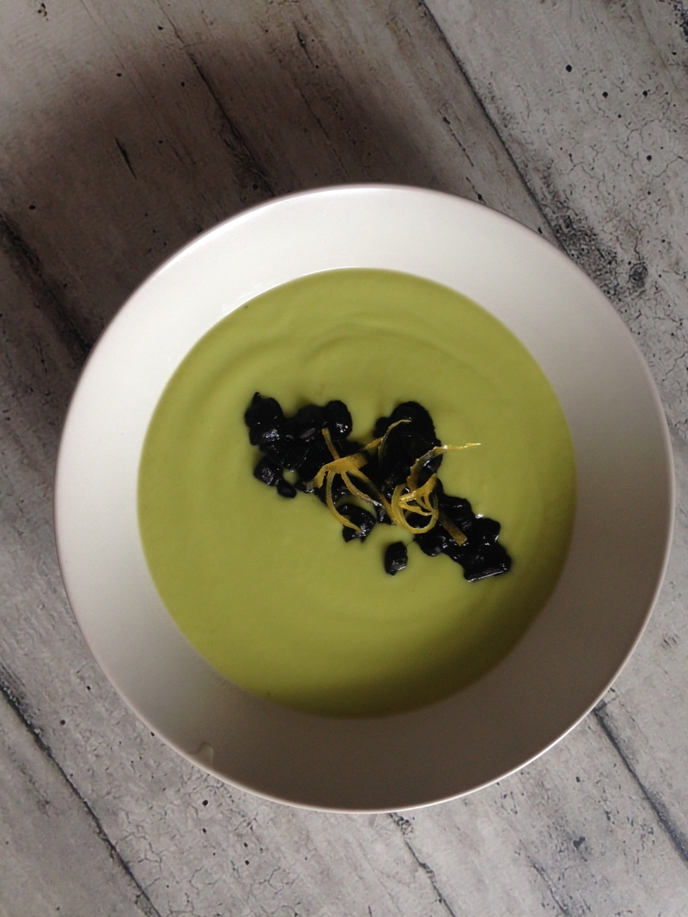 imitazione flavio costa zucchine trombette seppie al nero scorzette limone candite