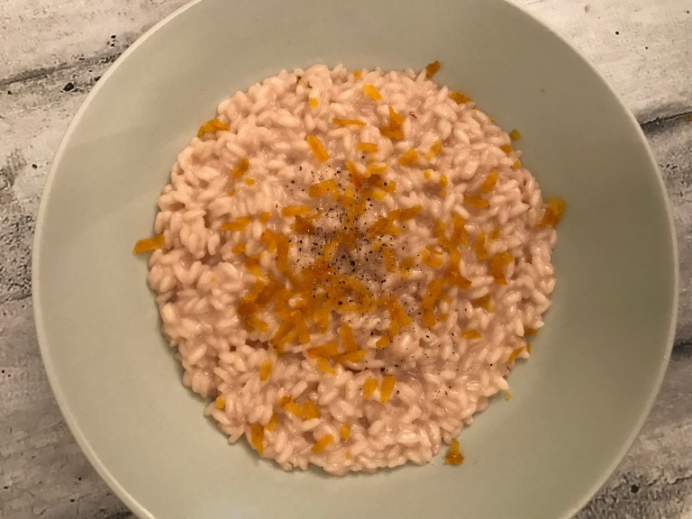risotto brodo polpo lime bottarga muggine