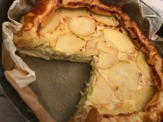 Tortino di patate, porri e pancetta affumicata 2