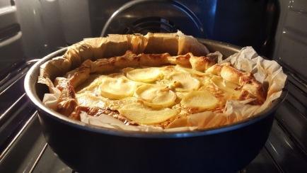 Tortino di patate, porri e pancetta affumicata
