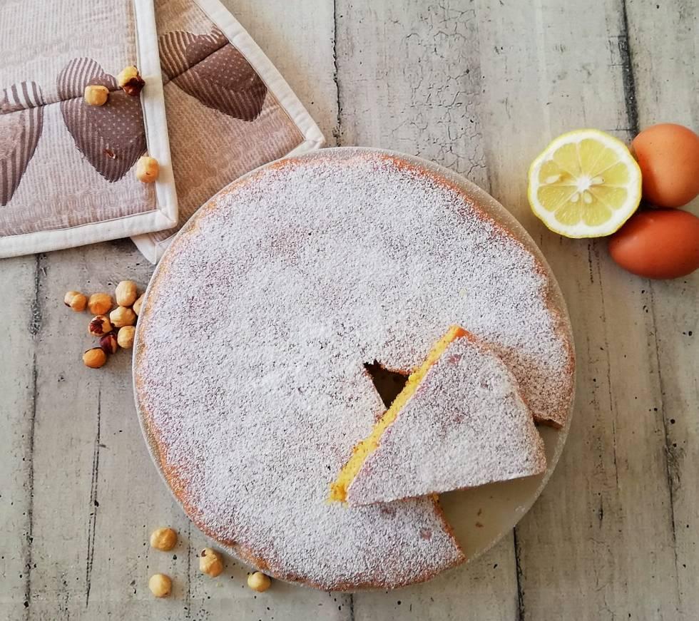 torta nocciole limone