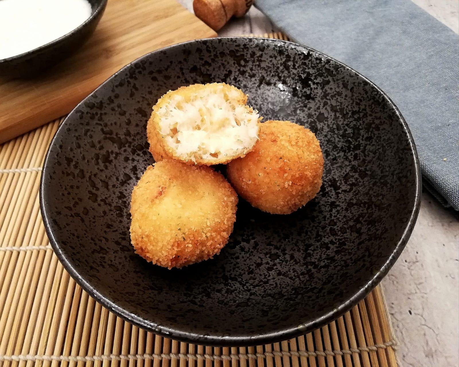 crocchette baccalà caciocavallo peperoni cruschi
